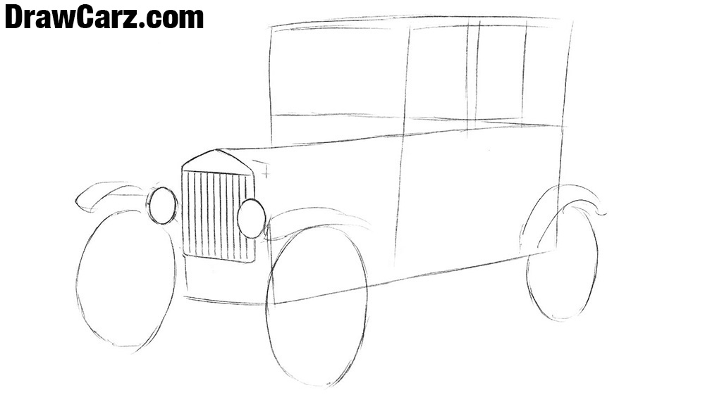 How to sketch a Ford Model T