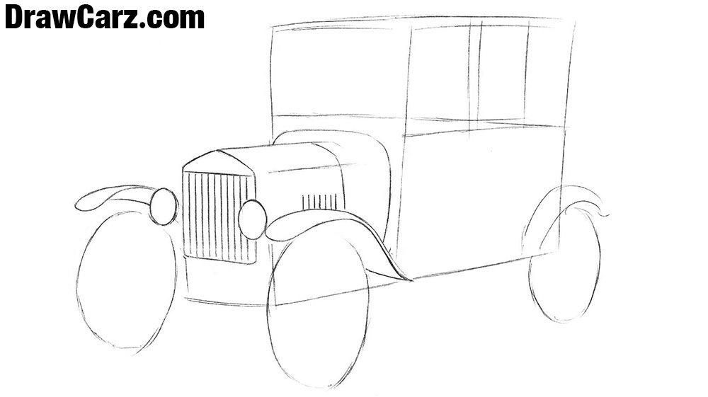 how to draw a ford model t