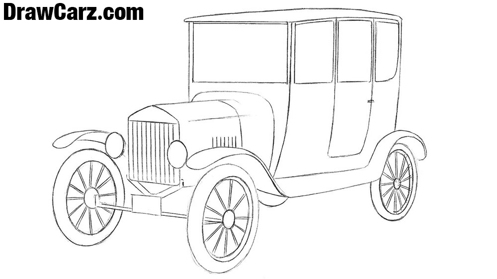Ford Model T drawing