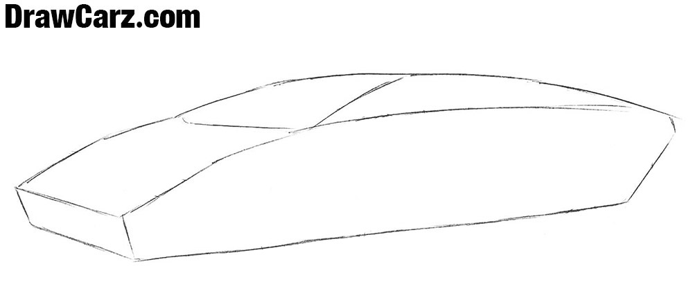 How to draw a Lamborghini Countach