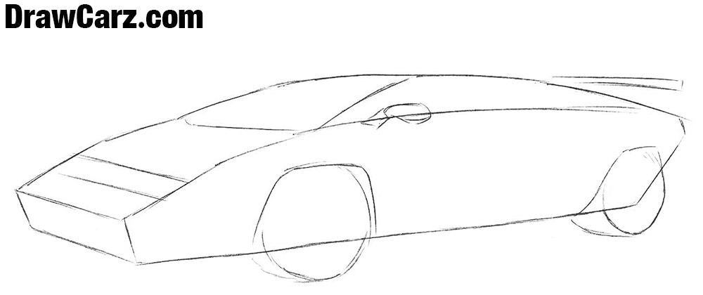Learn to draw a Lamborghini Countach step by step