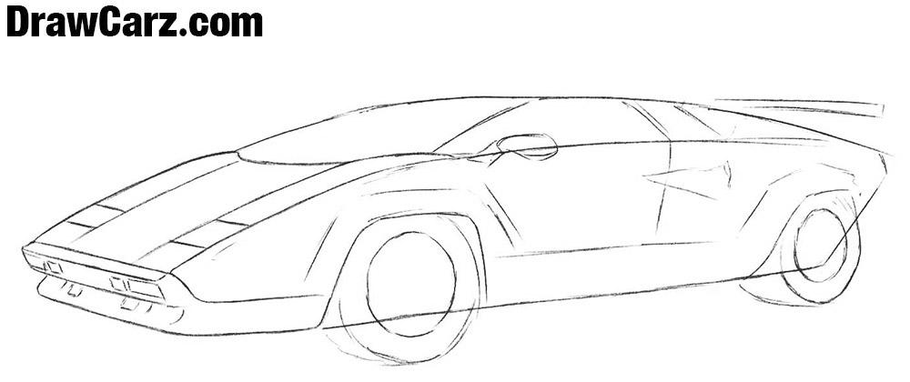 How to sketch a Lamborghini