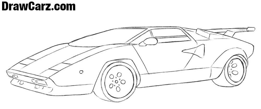 Lamborghini Countach drawing tutorial