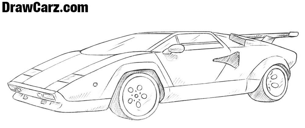 Learn to draw a Lamborghini Countach