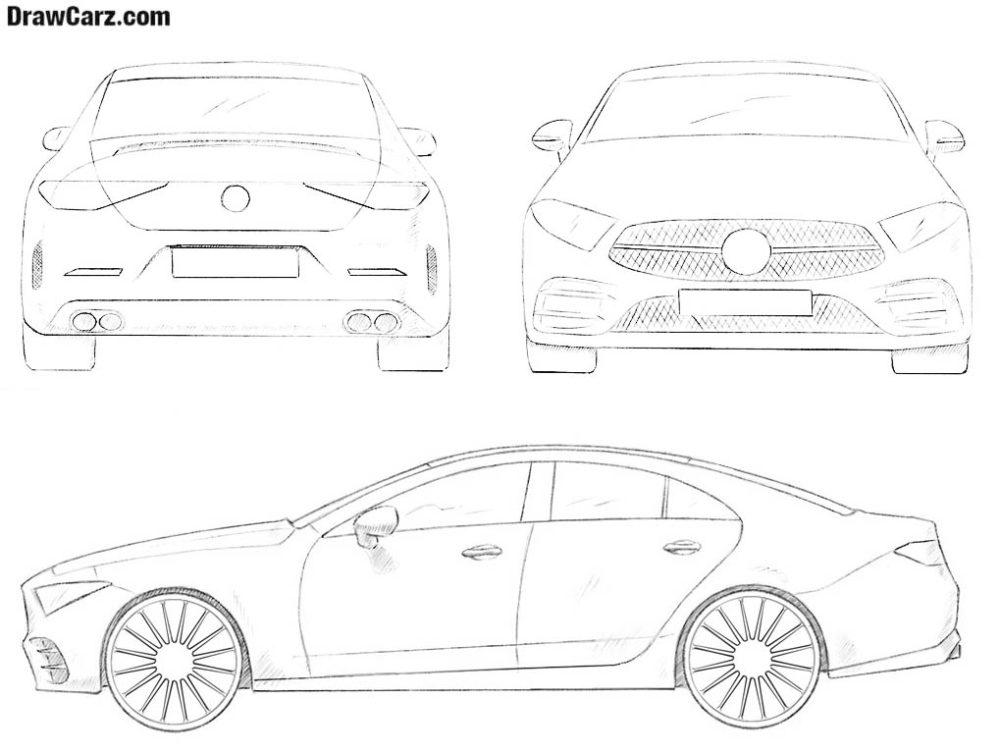 How to draw a car by drawcarz