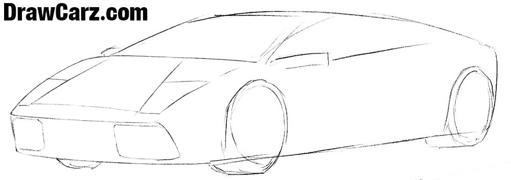 How to draw a Lamborghini for beginners