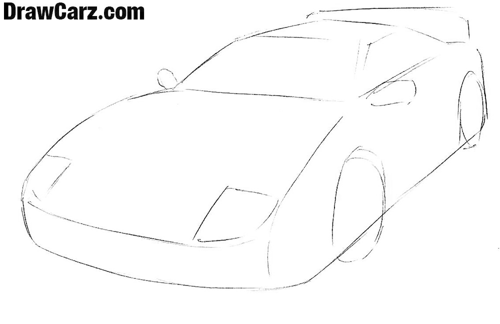 Learn how to draw a ferrari Easy step by step