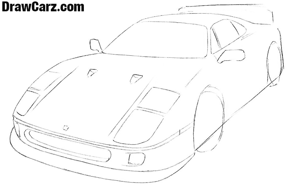 How to sketch a ferrari Easy