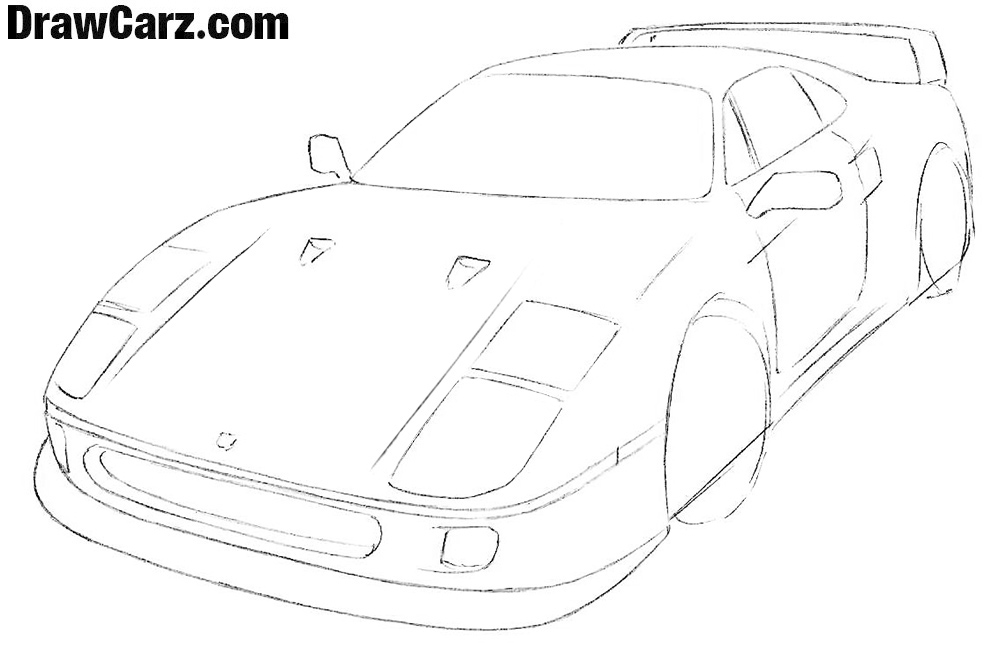 How to draw a ferrari Easy for beginners