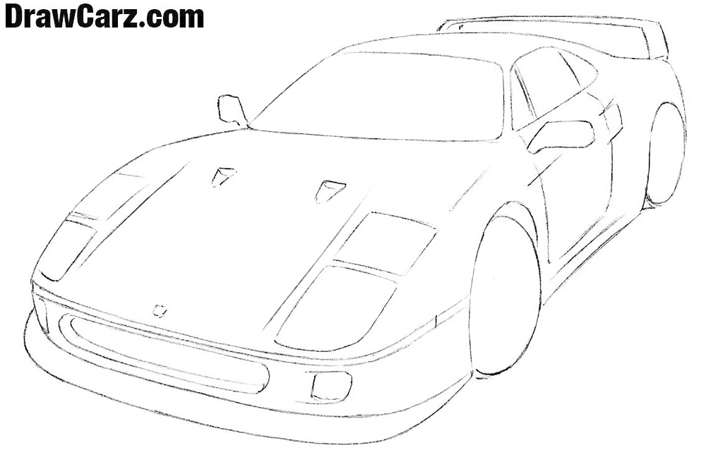ferrari Easy drawing tutorial