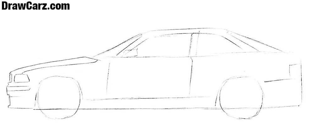 How to draw a coupe for beginners