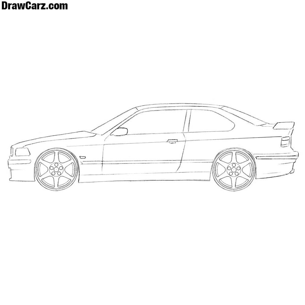 How To Draw A Coupe Car Easy Drawcarz