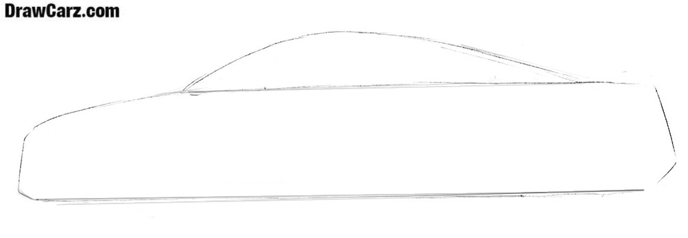 How to draw an Audi R8