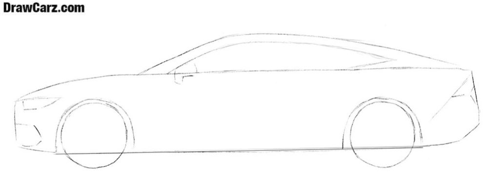 How to draw an Audi