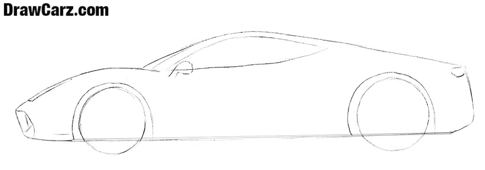 How to draw a Ferrari easy