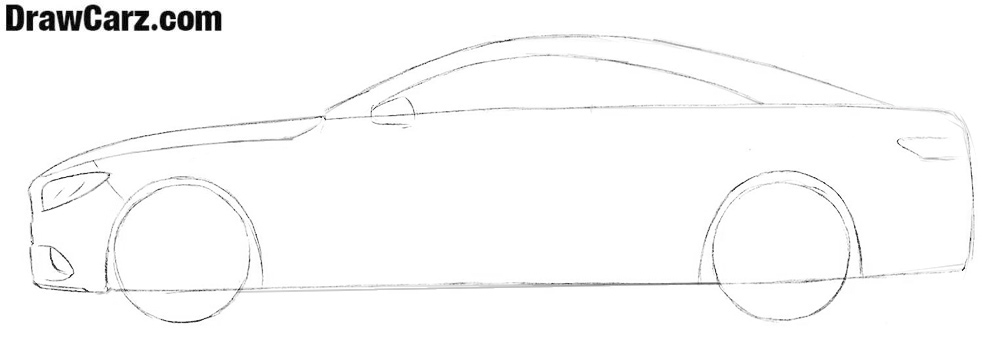 How to draw a Mercedes-Benz S