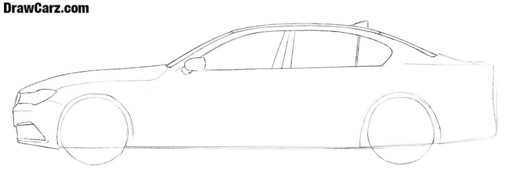 How to draw a BMW car