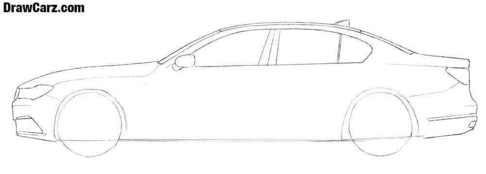 How to draw a BMW step by step