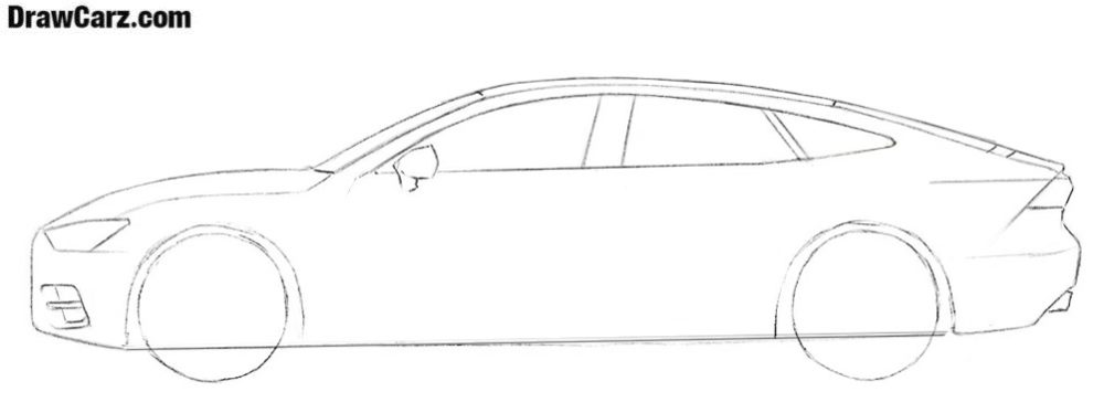 How to draw an Audi A7 easy