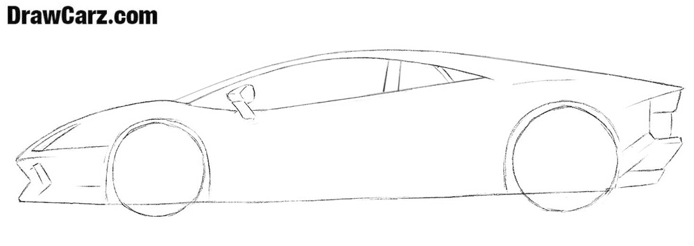 How to sketch a Lamborghini