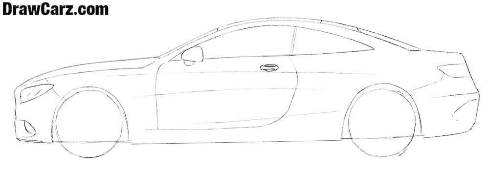 Learn how to draw a Mercedes S coupe