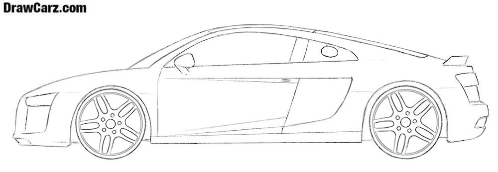 Audi R8 drawing tutorial