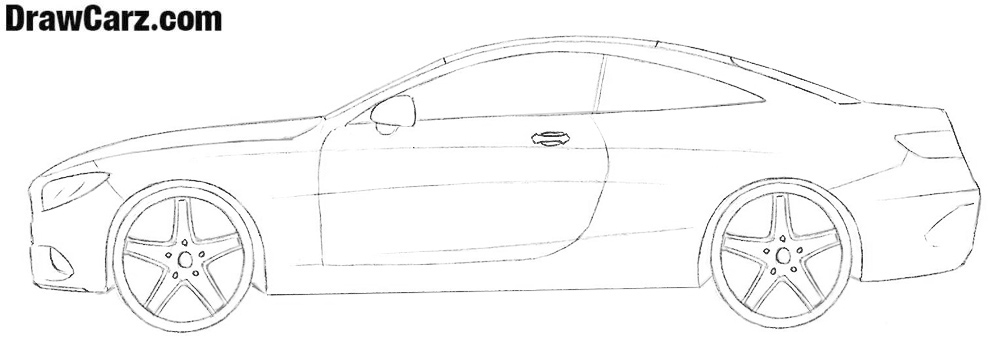 How to draw a Mercedes-Benz Step by step