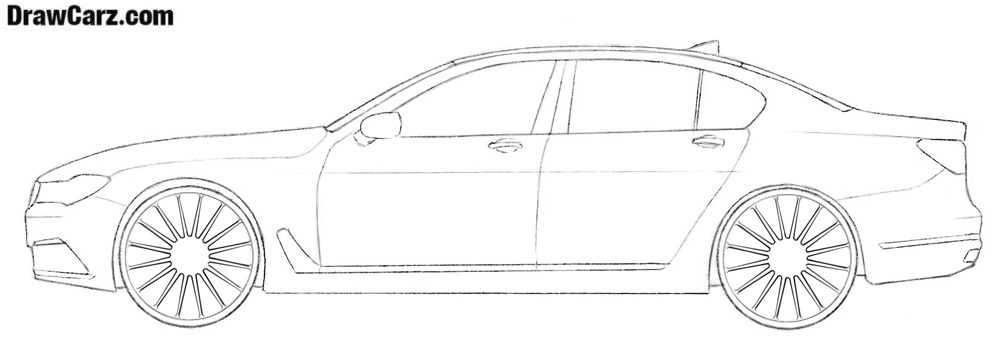 How to sketch a BMW