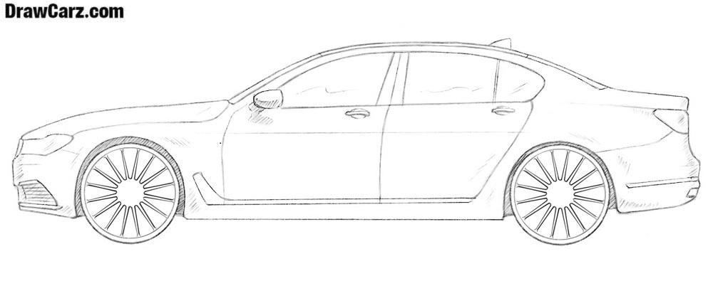 How to draw a BMW