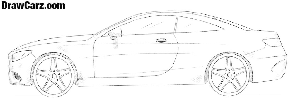 How to draw a Mercedes-Benz S Coupe