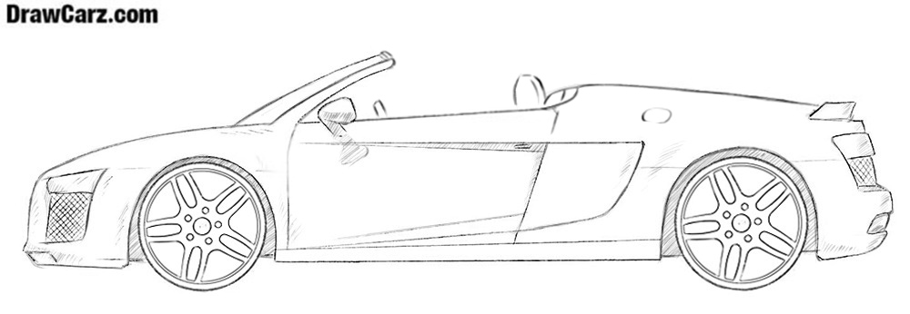 How to draw an Audi R8 cabriolet