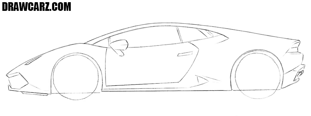 How to draw a supercar step by step easy