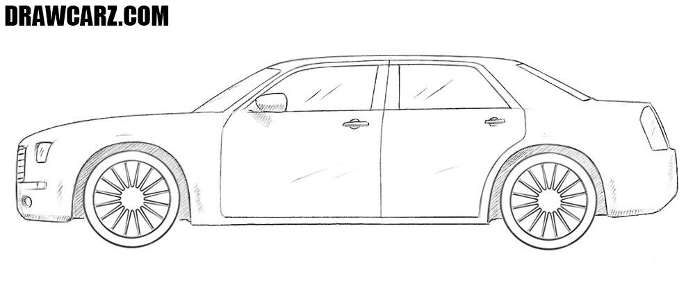 Chrysler 300c drawing