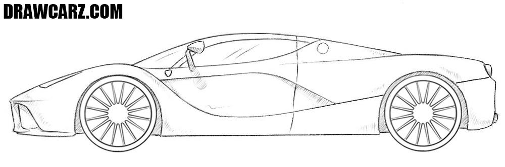 Ferrari Laferrari drawing