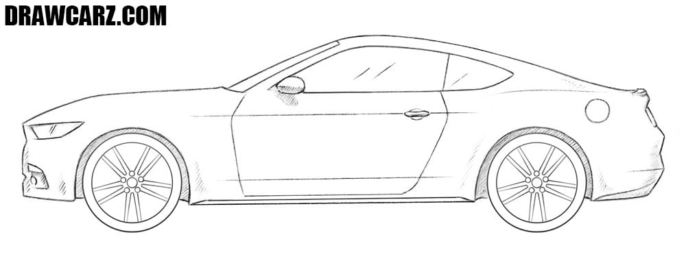 Ford Mustang drawing
