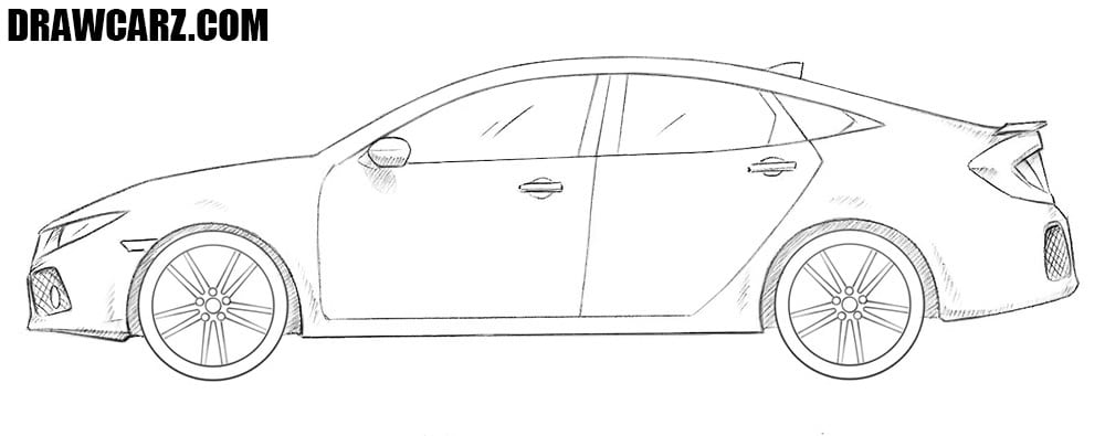 How to draw a Honda Civic drawing