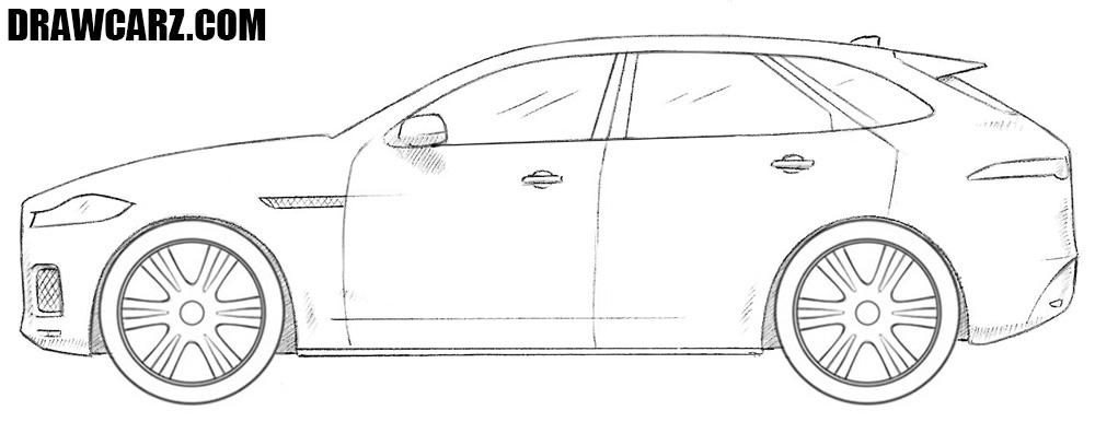 Jaguar F Pace drawing