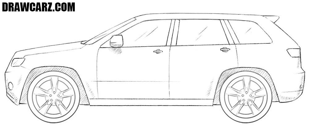 Jeep drawing
