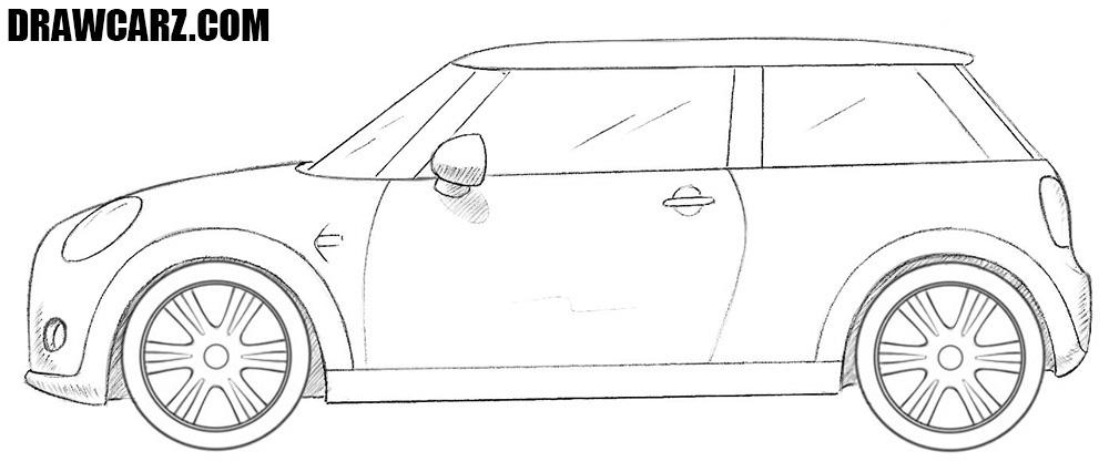 Mini Cooper drawing
