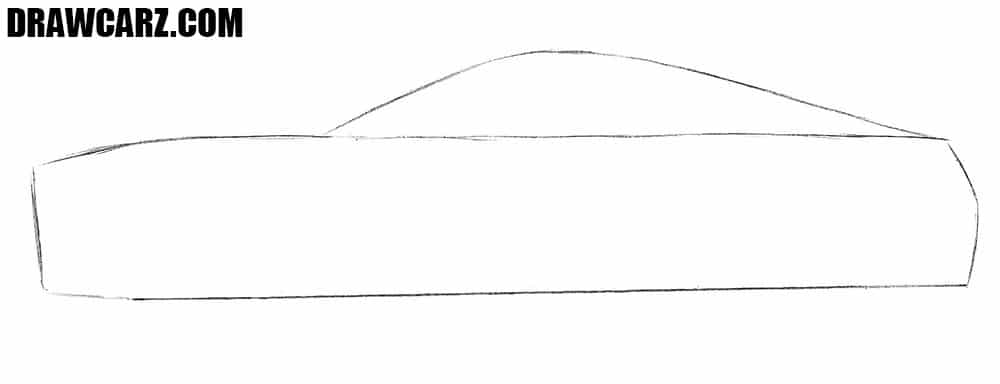 How to draw a Ford Mustang for beginners step by step