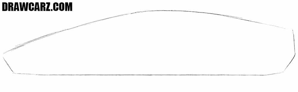 How to sketch a Lamborghini Aventador