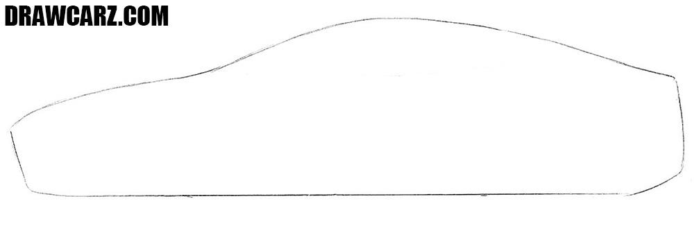Tesla Model S drawing tutorial