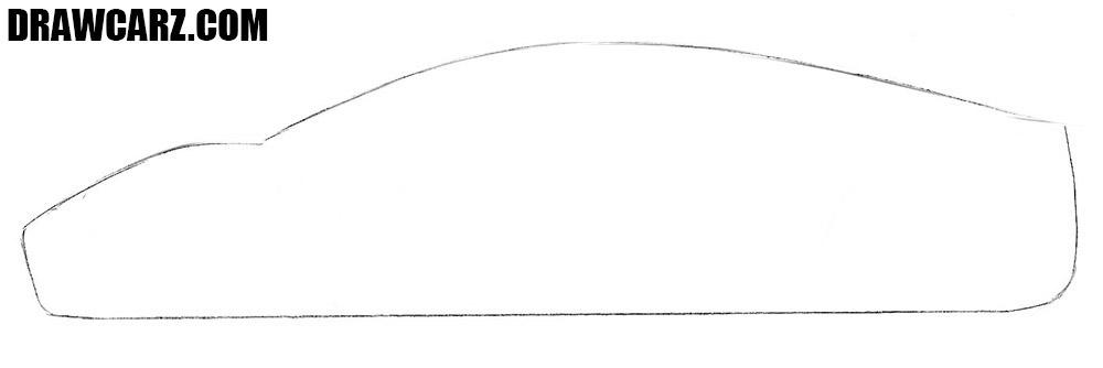 Tesla Roadster drawing tutorial