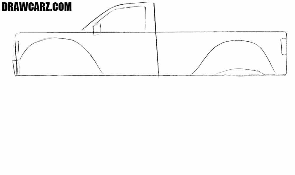 How to draw a Monster Truck pickup