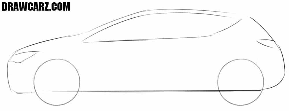 How to draw a Opel Astra step by step