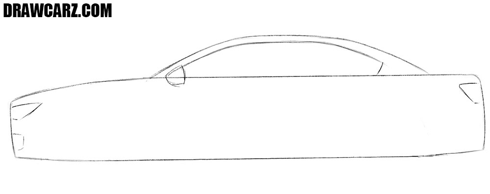 How to draw a car in easy way
