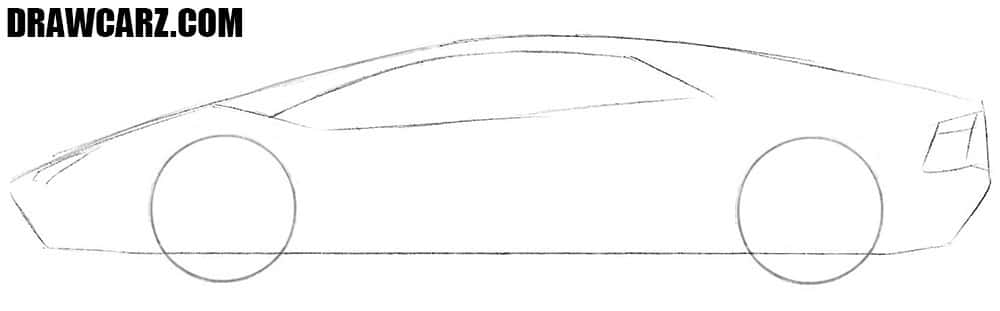 How to draw a realistic Lamborghini Aventador