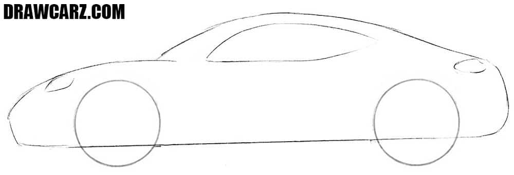 Sports Car drawing guide