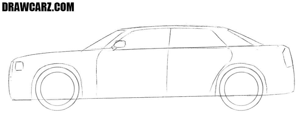 How to draw a Chrysler 300c easy step by step
