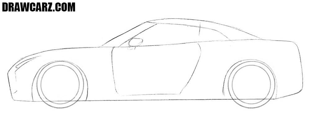How to draw a Nissan easy
